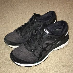 ASICS gel kayano 24 black size 7 women's